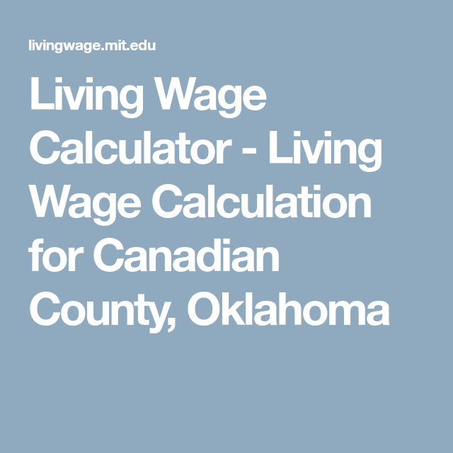 living wage calculator living wage calculation for canadian county