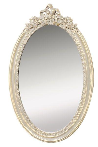 spegel med belysning rusta
