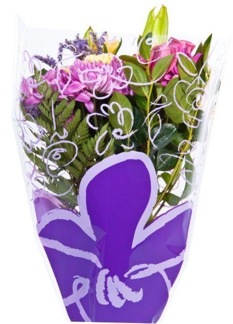 Flower Bouquet Unprinted 37 Micron Clear Plastic Sleeve Bag 50 Pcs