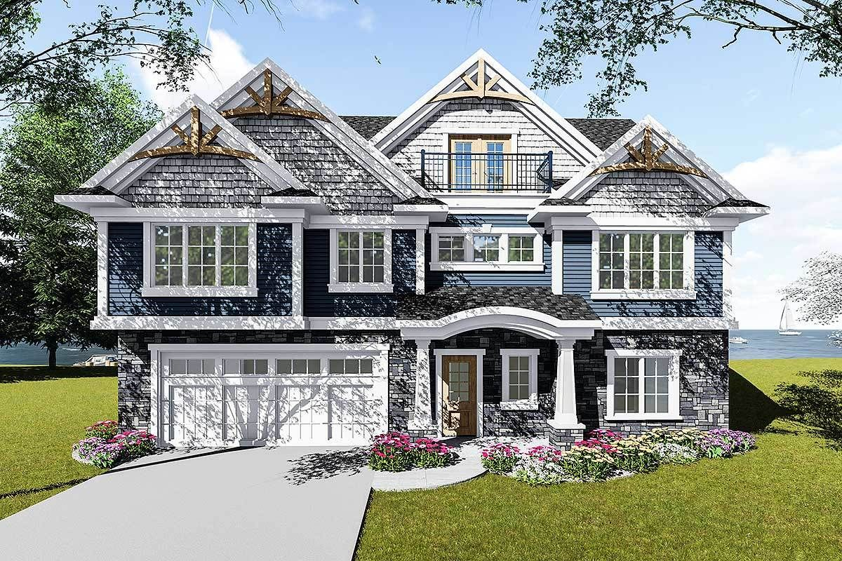 Plan 890067ah Craftsman House Plan For A View Lot Craftsman House Craftsman House Plan Craftsman House Plans