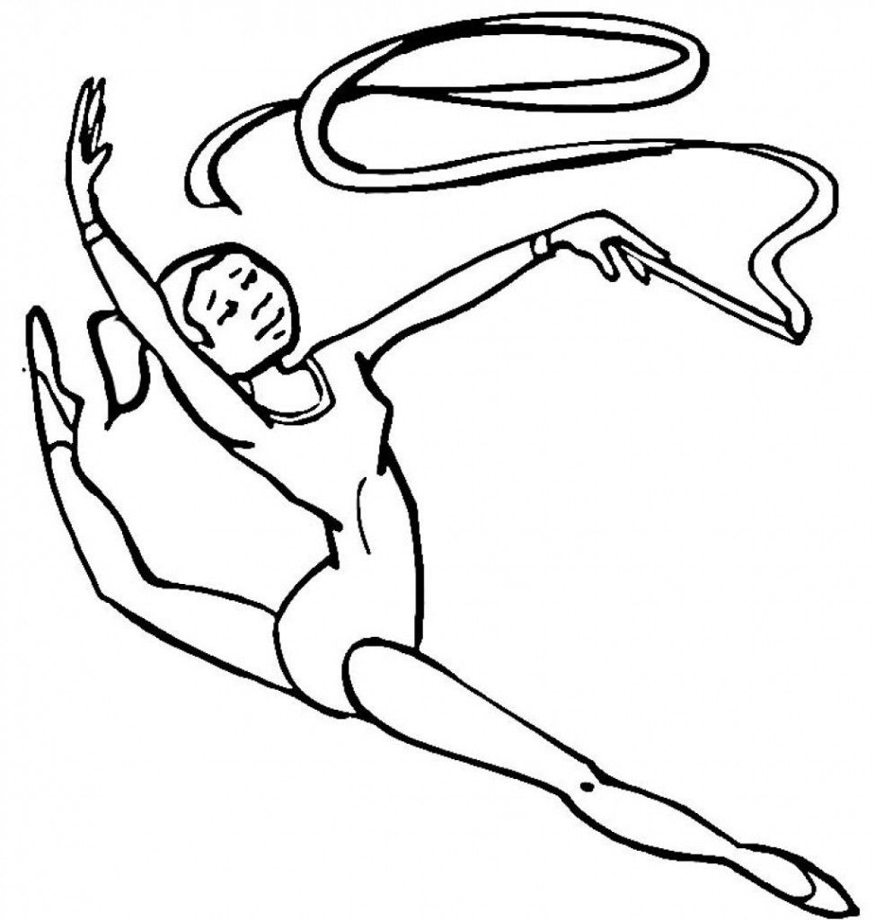 Free Printable Gymnastics Coloring Pages For Kids  Sports