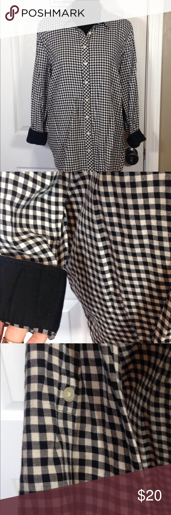 Flannel with shirt underneath  Talbots flannel shirt like new XL  Flannel shirts Talbots and Flannels