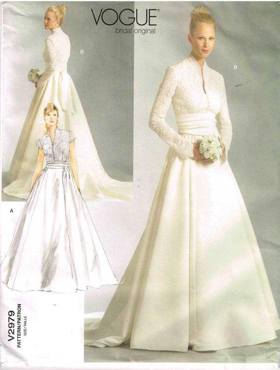 Wedding Dress Vogue Original 2979 Sewing Pattern Bridal Gown Plus ...