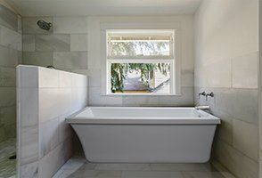 Freestanding Tub End Drain Wayfair Marble Bathroom White