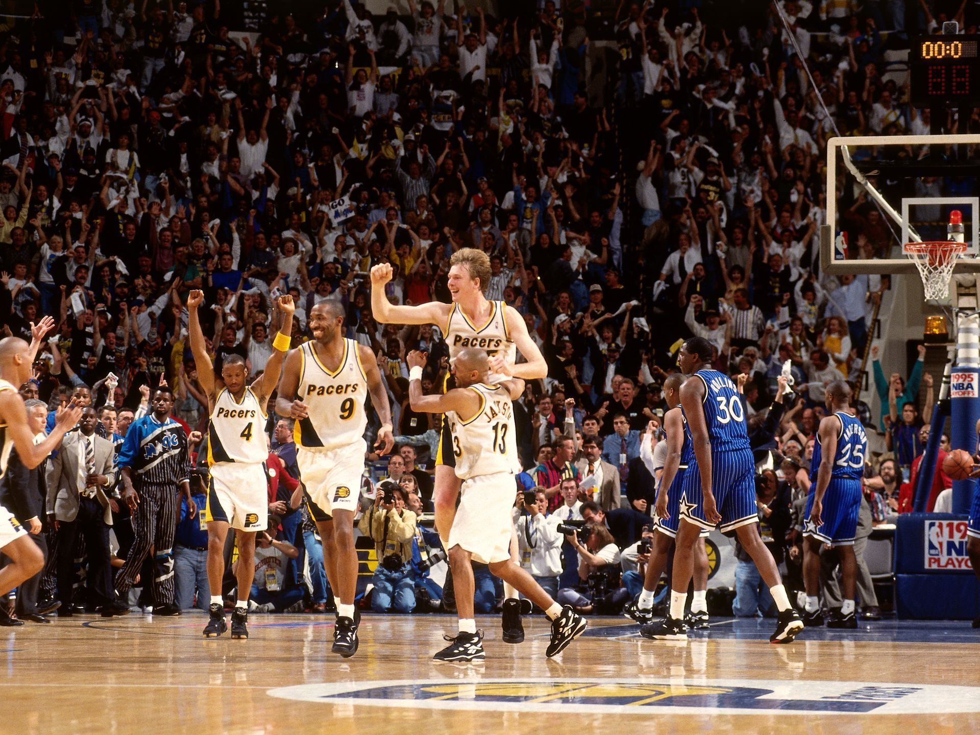 Rik Smits Game 4 of the 1995 Eastern Conference Finals With the