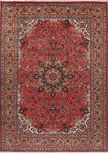 Tabriz Persian Vintage Floral Area Rug Wool Red Brown Hand Knotted Oriental Carpet 8x11 8 2 X 11 5 In 2020 Wool Area Rugs Persian Area Rugs Floral Area Rugs