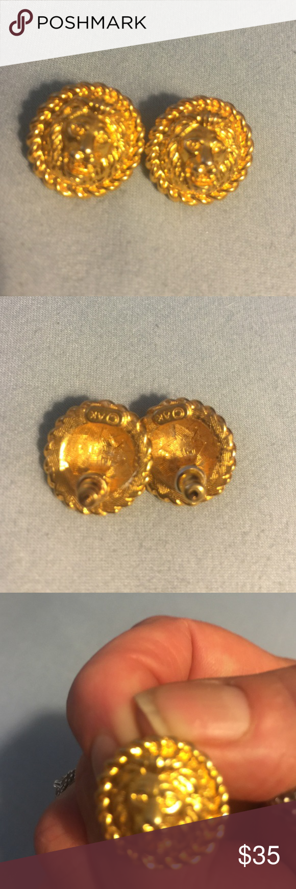 14k gold lion earrings. Stunning gold pierced Amazing 14k gold lion earrings. Gorgeous gold glimmer with a unique and vintage look to the design. The lion is amazing they are a post type pierced earring. Remember offers always welcome. Bundling saves and gives you more bang for your buck. I can not ship any items until next week but normally same day shipping or within 24 hrs. You will not be waiting for your purchase to ship. 30% off bundles of 3+. These are gorgeous gold not gold overlay…