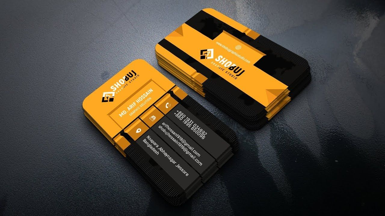 How To Create 3d Business Card In Photoshop Tutorial 3d Business Card Photoshop Tutorial Business Cards