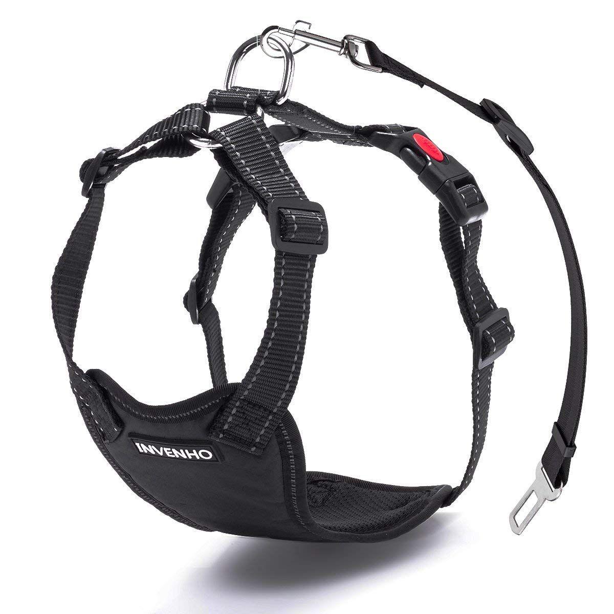 DOGJOG Dog Car Harness Plus Connector Strap Safety Vest