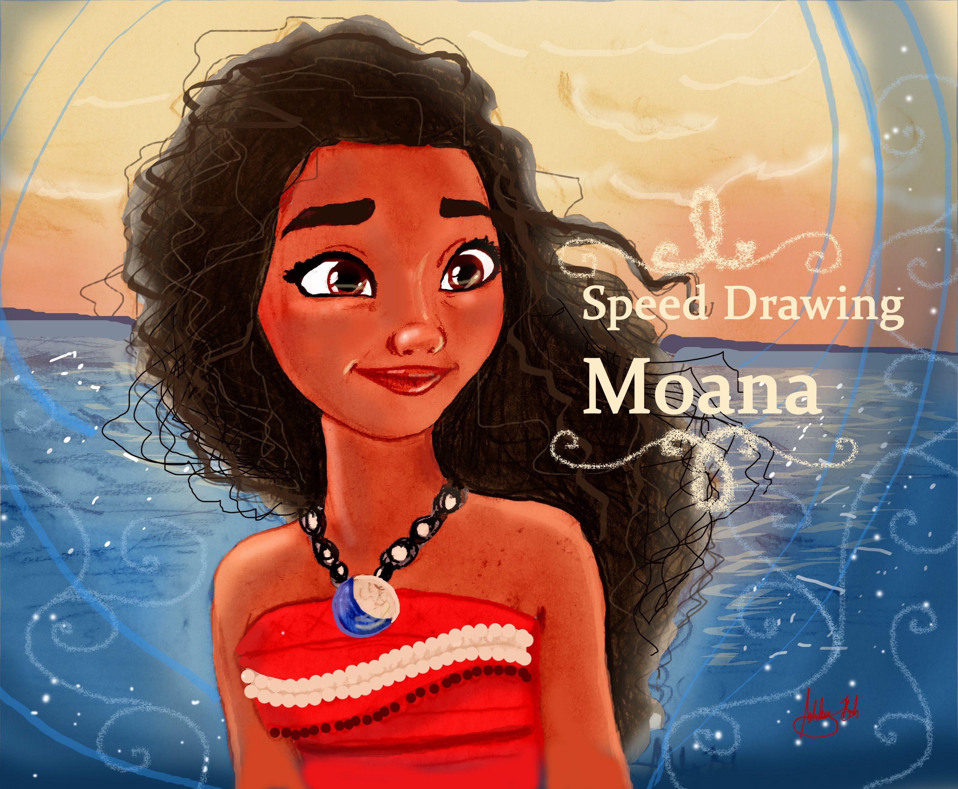 """Speed Drawing - Moana from Disney's """"Moana"""""""