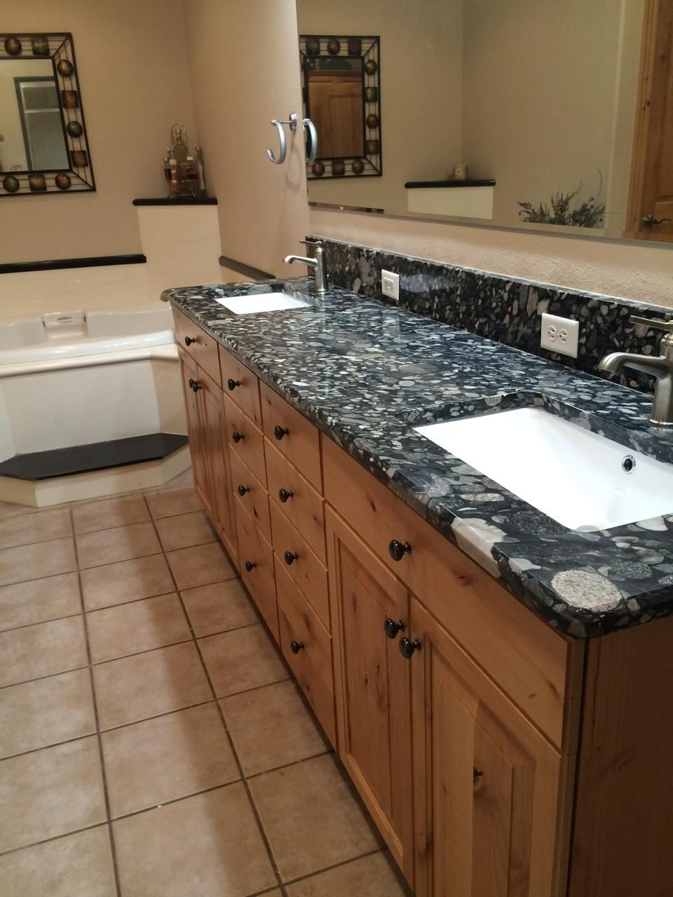 master bath vanity countertop and backsplash in nero on replacement countertops for bathroom vanity id=28477