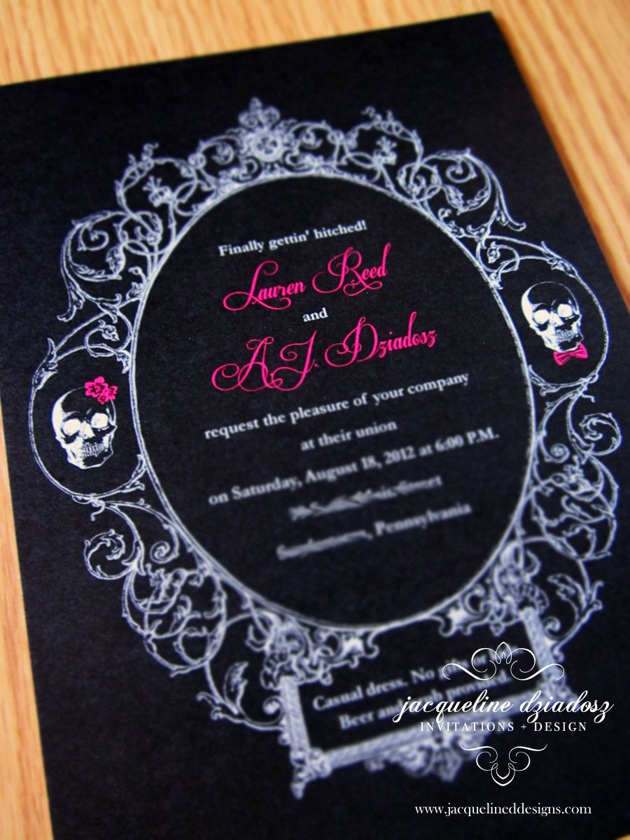 skull wedding invitations awesome picture design imagesjpg - Skull Wedding Invitations