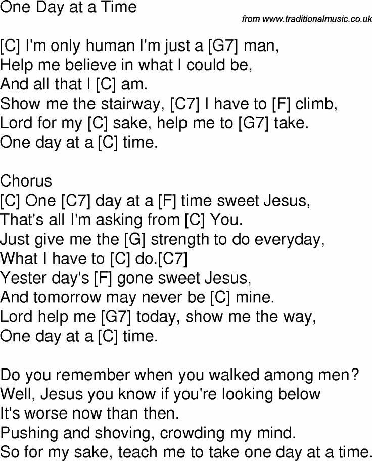 one day at a time gospel song lyrics song lyrics and chords ukulele chords