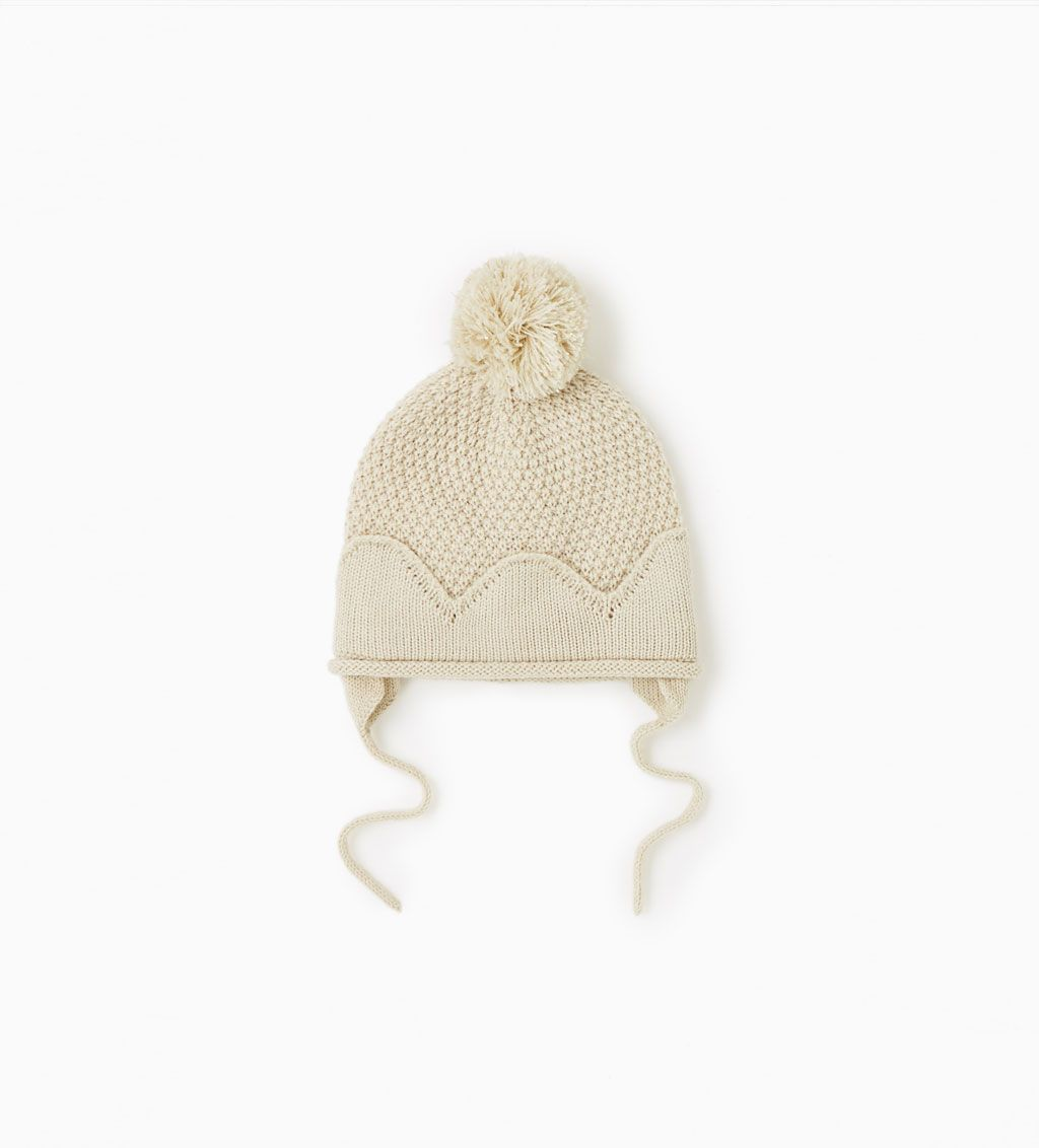 a85617f8b4 Ear flap hat with pompom-View all-ACCESSORIES-BABY BOY | 3 months-3 ...