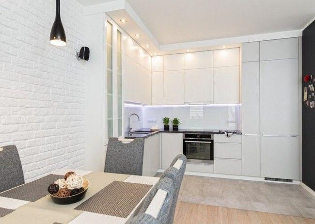 Spritzschutz in weiß durch kaltes LED Licht betont | Küche ...