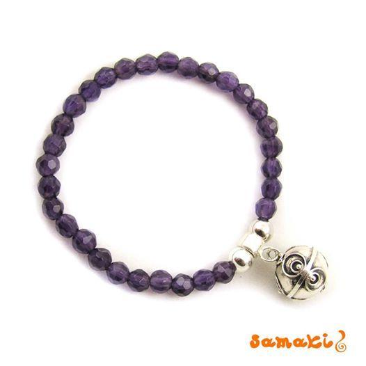 NEU von samaki originals, speziell für Kinder: Engelrufer Amethyst Armband, lila  alle Infos: http://www.samakishop.com/Engelrufer-Amethyst-Armband-samakishop