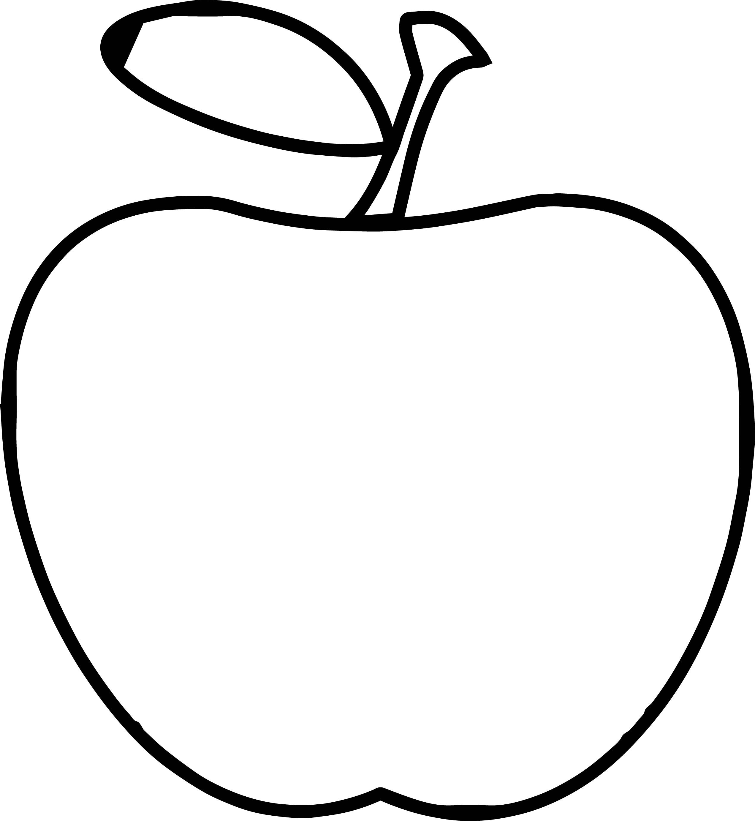 Teacher Apple Apple Simple Coloring Page Easy Coloring Pages