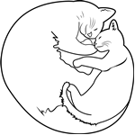 Cute Kitten Sleeping With Mom Cat Things To Color In 2018