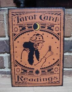 Pin by Lisa Brock on Tarot   Tarot, Tarot cards, Halloween wood signs