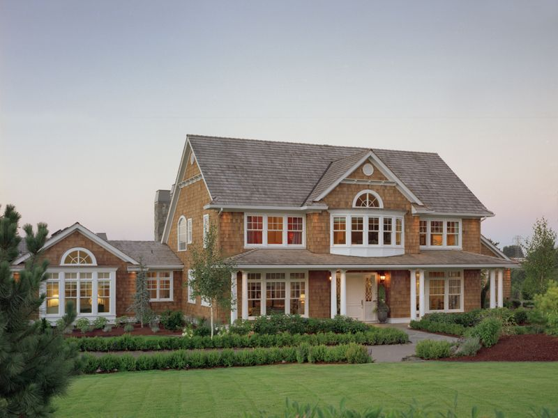 Cape style house with attached garage