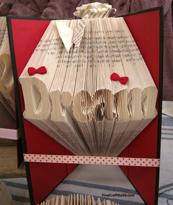 how to fold book pages into letters recycled book art. Black Bedroom Furniture Sets. Home Design Ideas