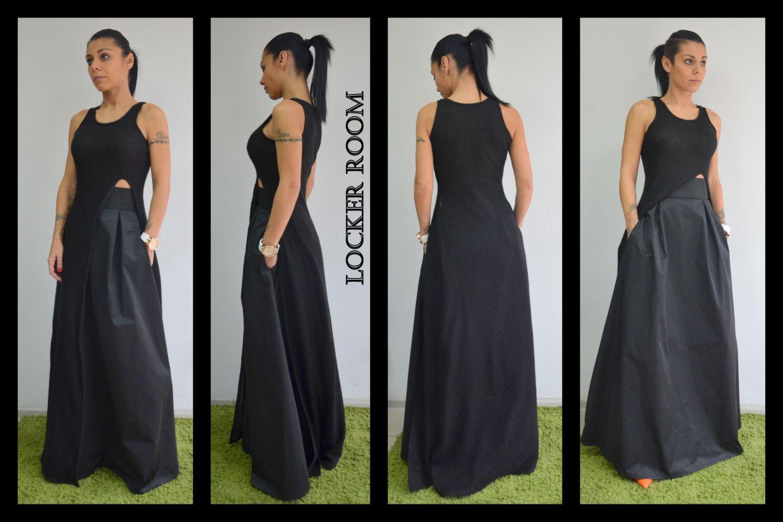 Maxi black skirt plus size maxi skirt circle skirt floor length