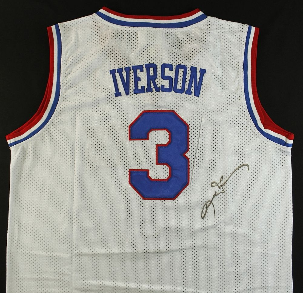 allen iverson signed jersey