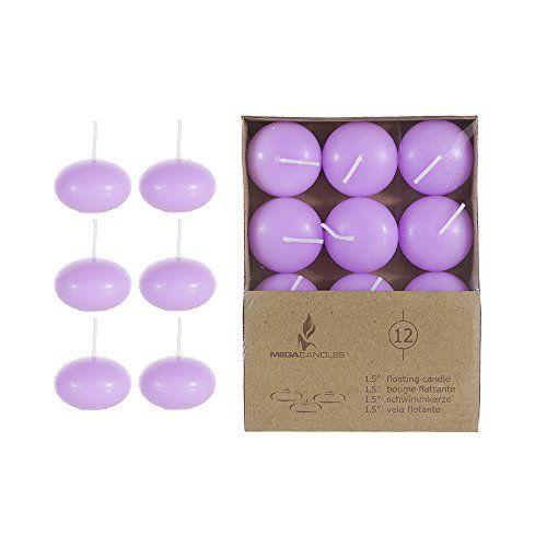 "Mega Candles - Unscented 1.5"" Floating Disc Candles - Lavender, Set of 12 Mega Candles http://www.amazon.com/dp/B01AKWVS4O/ref=cm_sw_r_pi_dp_zfJexb0G9CRMV"