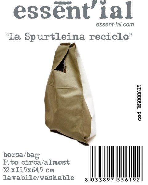(Essent-ial Linea Borse 2012)  Love this bag