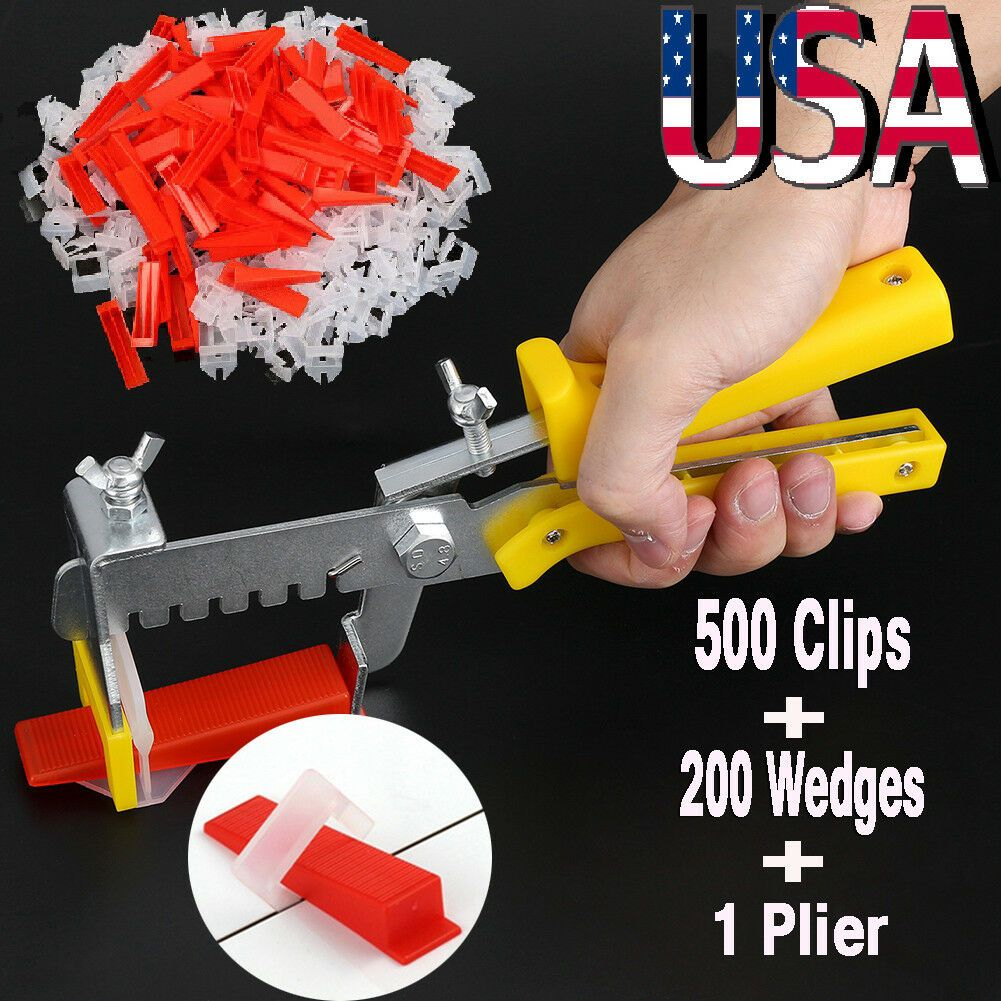 701pc Clip Tile Leveling System Kit Floor Wall 1 5mm Tile Spacer Tiling Tool Set Wall Tiles Ideas Of Wal Tile Spacers Tile Leveling System Room Wall Tiles