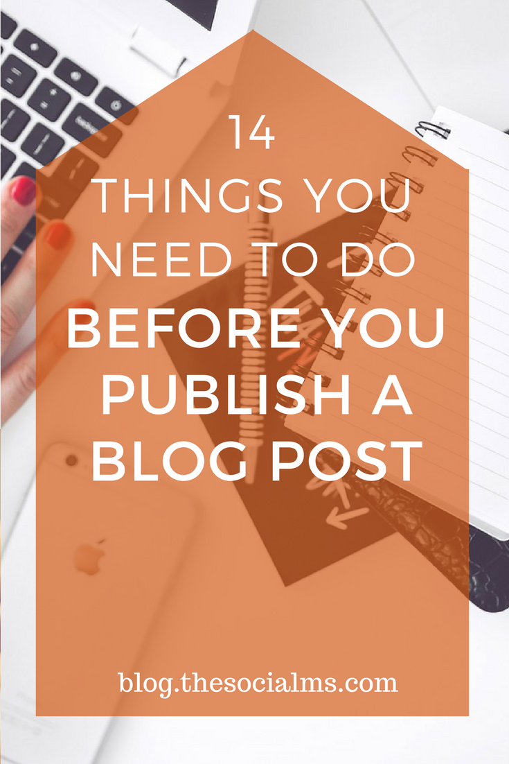 14 Things You Need To Do BEFORE You Publish A Blog Post | Seo tipps ...