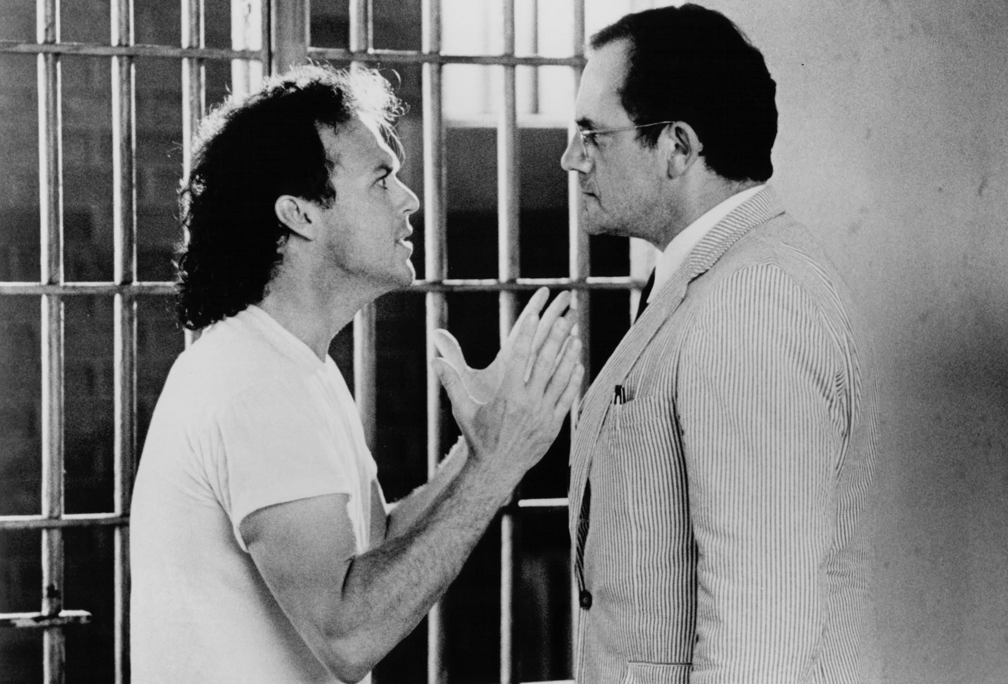Still of Michael Keaton and Christopher Lloyd in The Dream Team (1989)