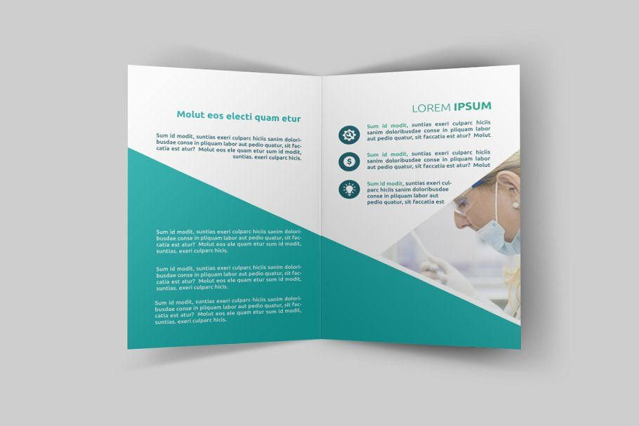 Medicine Bi Fold Brochure Bi Fold Brochure Brochure Template Brochure