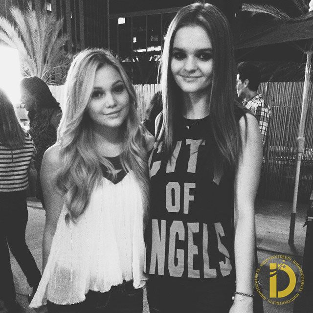 I Didn't Do It Star Olivia Holt pose in style with Kerris Dorsey as they attend People StyleWatch