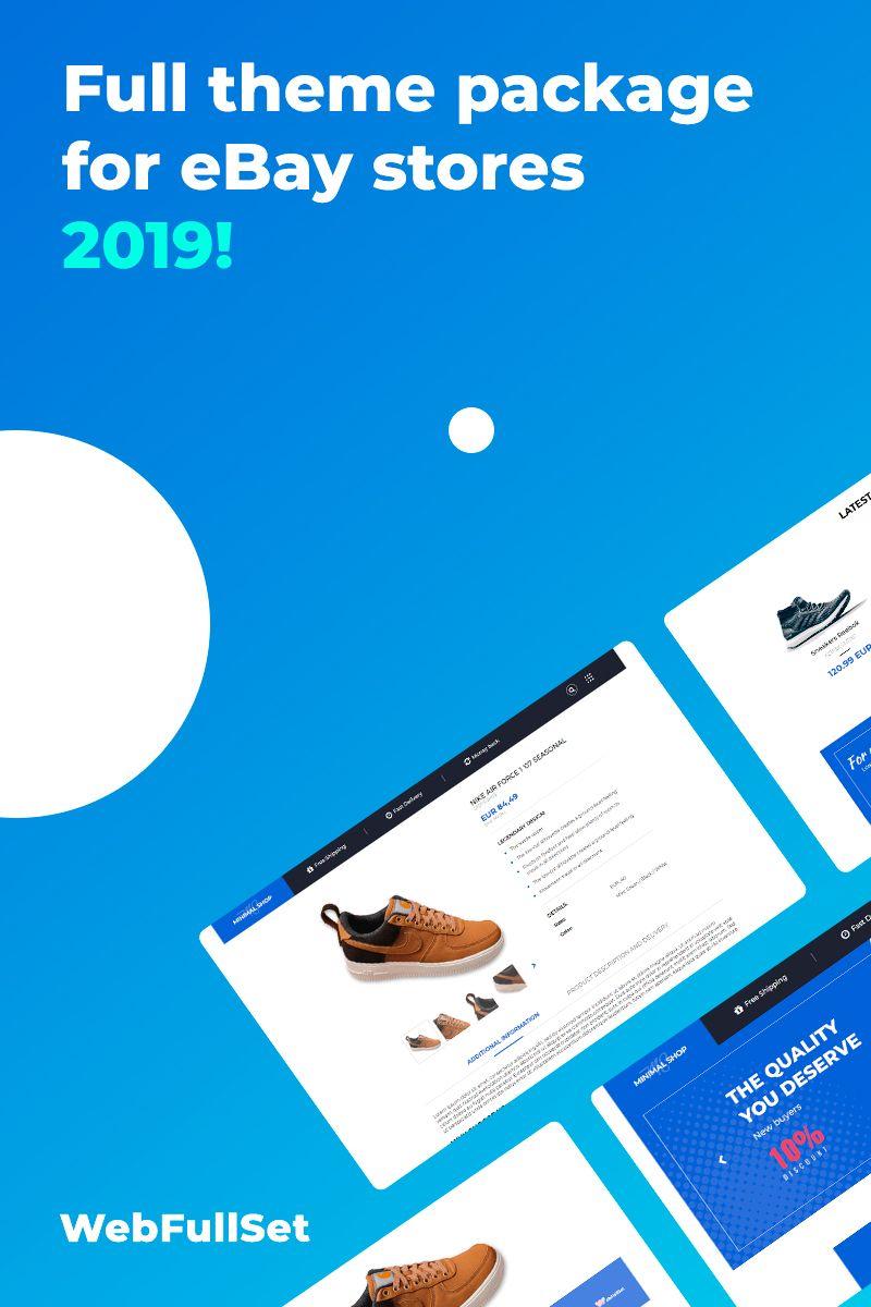 Minimalshop V3 Ebay Template 82562 Ebay Templates Web Template Design Templates