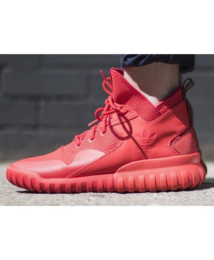 adidas tubulare, tutto rosso, allenatore di moda da adidas pinterest