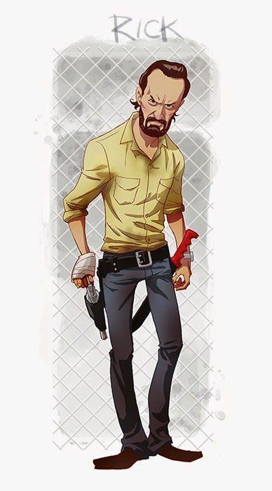 Five Amazing Cartoon-Style Walking Dead Characters: