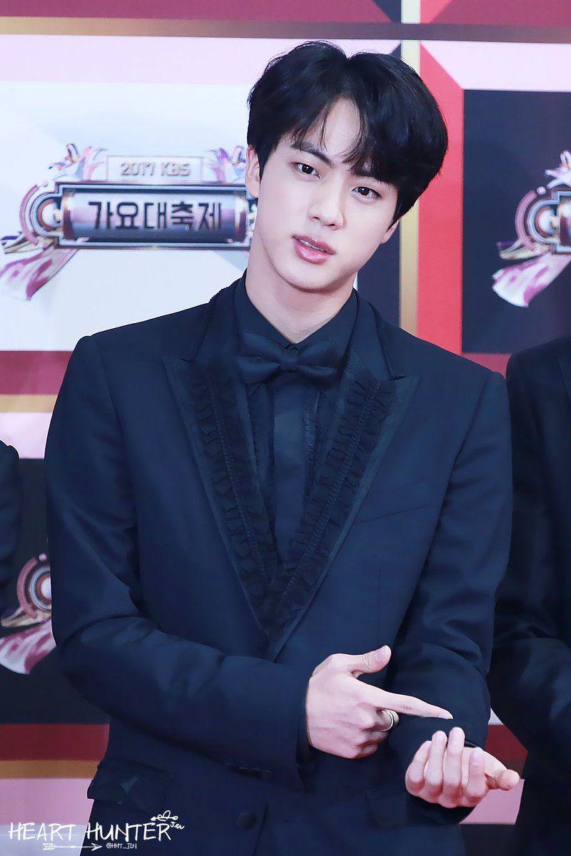 Bts Jin Black Hair Black Suit Bts Jin Worldwide Handsome Kim Seokjin
