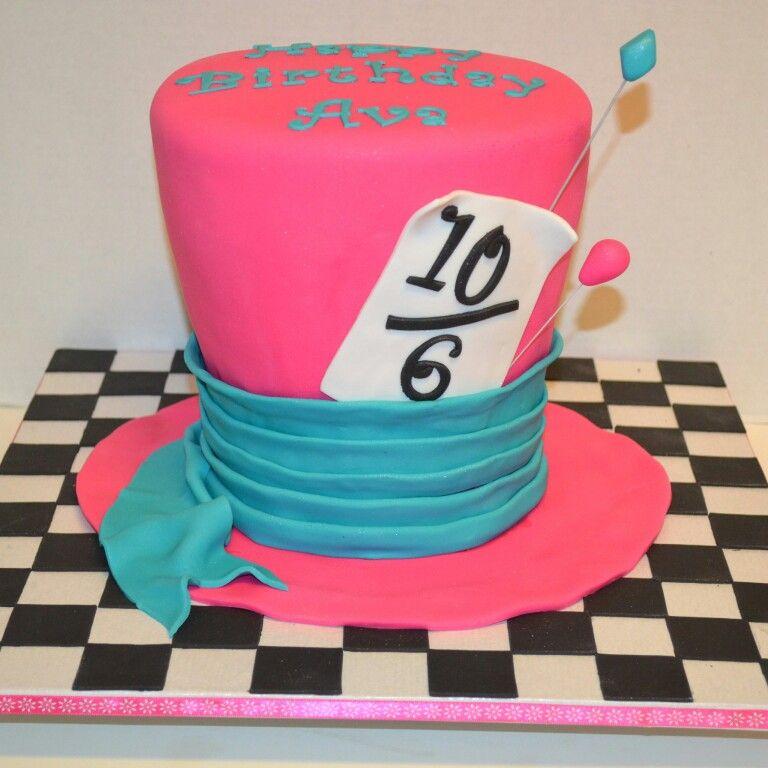 Alice In Wonderland Mad Hatter Hat Cake Loved Making This Cake