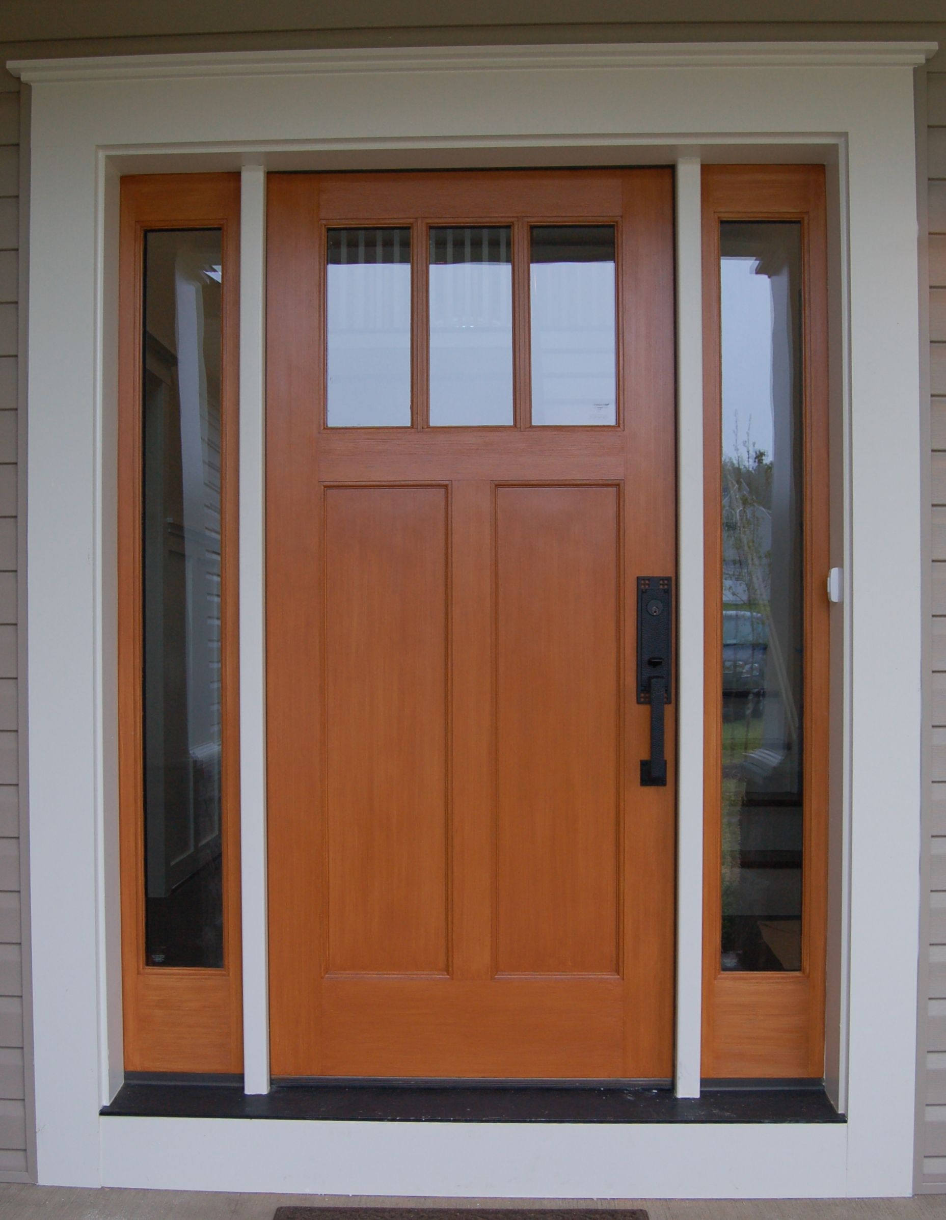 Quaker craftsman front door custom home exteriors for Door design and colour