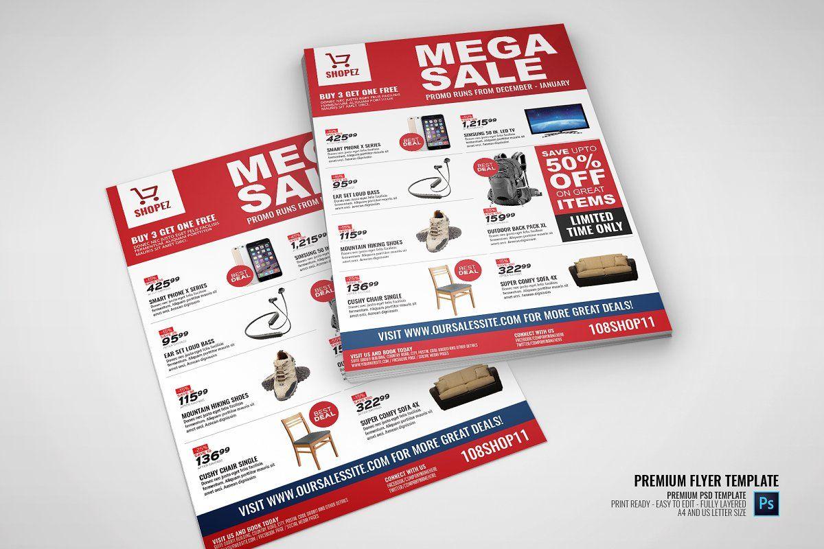 Sales And Promotional Flyer Sponsored Design Template Flyer Sales In 2020 Promotional Flyers Flyer Design Templates Modern Business Cards Design
