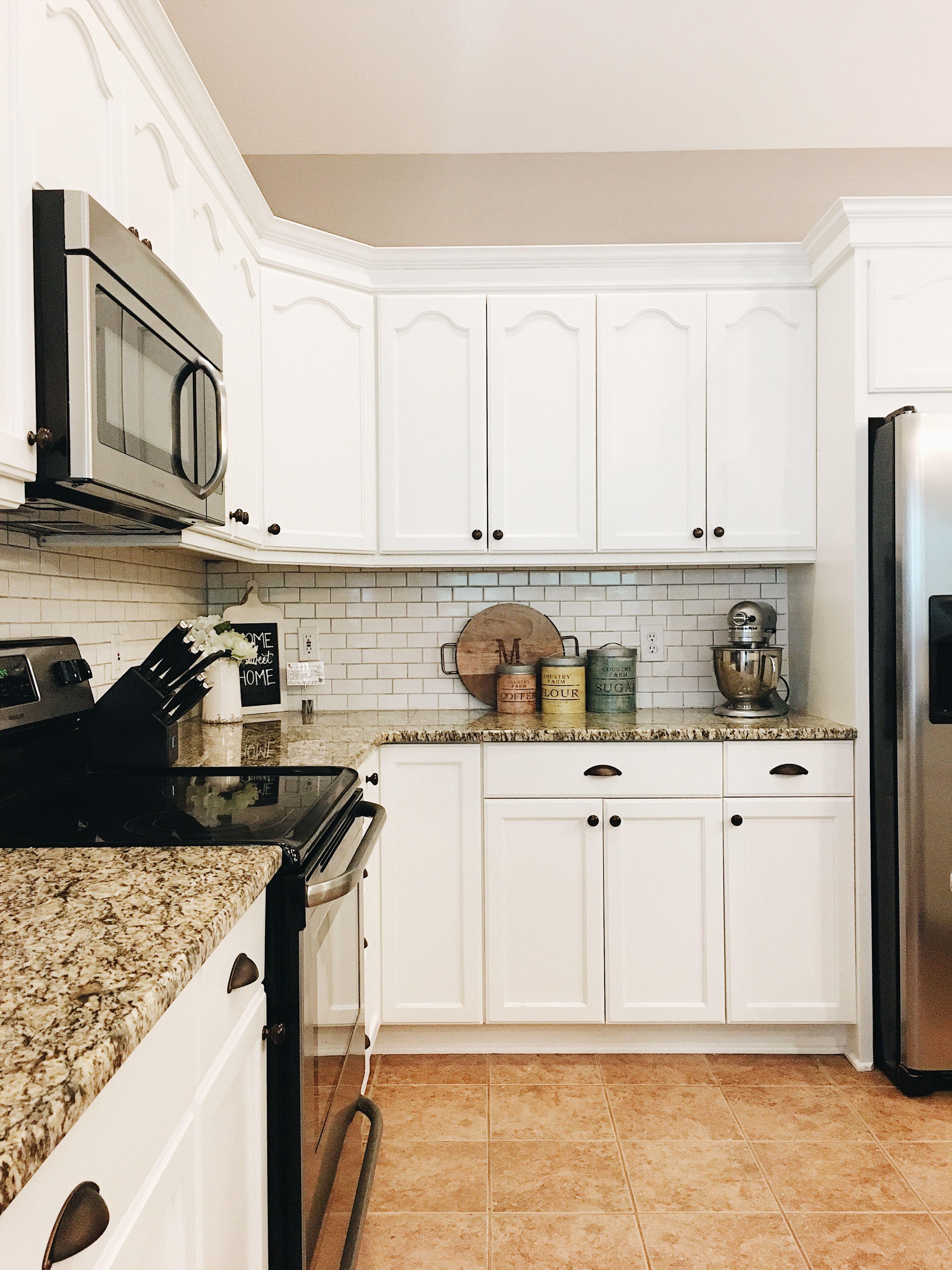 Farmhouse Kitchen | Kitchen Remodel | White Kitchen ... on Farmhouse Granite Countertops  id=25942