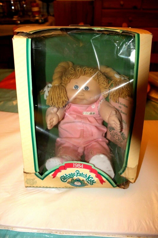 Rare Nib Vintage Cabbage Patch Doll 1984 Blonde Head Yarn Hair Pink Dress Cabbage Patch Dolls Vintage Cabbage Patch Dolls Cabbage Patch Babies
