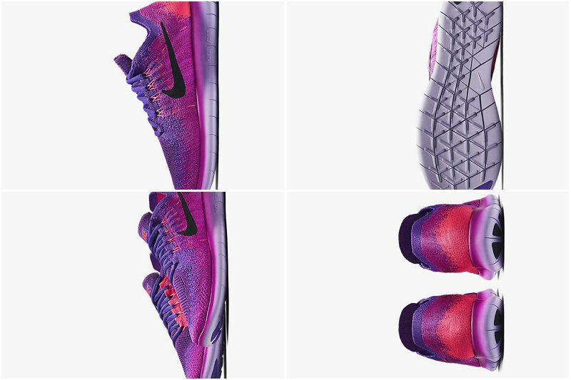 51bf4355f770e Nike Free RN Flyknit 2018 Womens New Running Shoe Fire Pink Hyper Grape  Racer Pink Black 880844 600