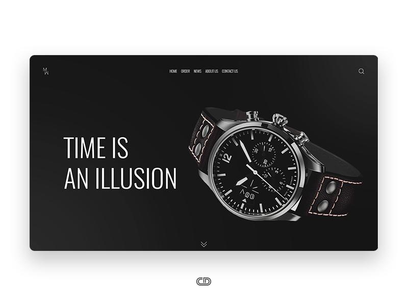 day 9 ui design for watches website store ui design ideas - Ui Design Ideas