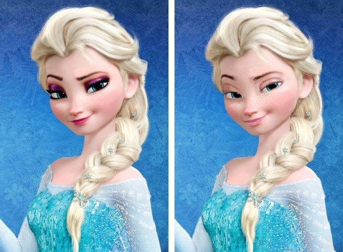 La reine Elsa de Frozen sans maquillage