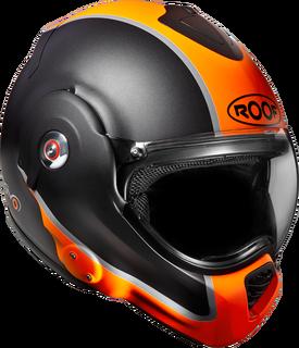 Roof Desmo Ro32 Flash Matt Black Yellow Helmet Orange