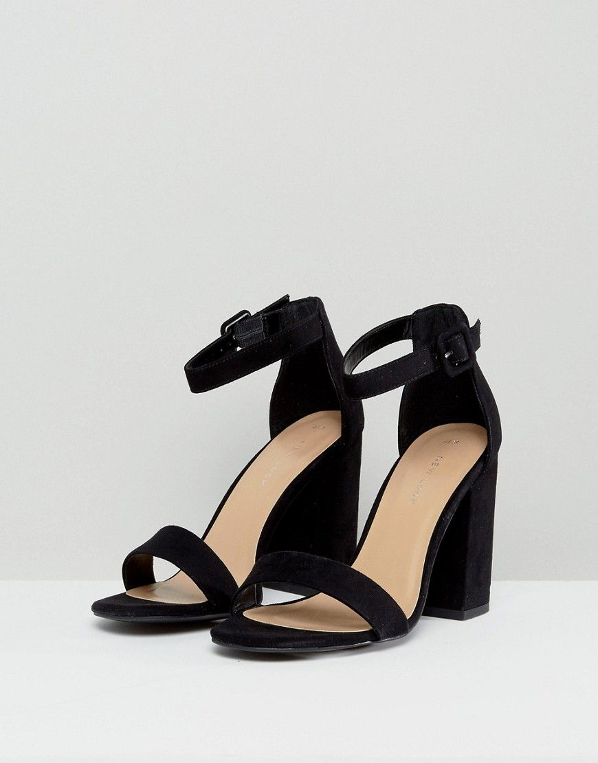 c53f7a81a264 New Look Barely There Block Heeled Sandal - Black