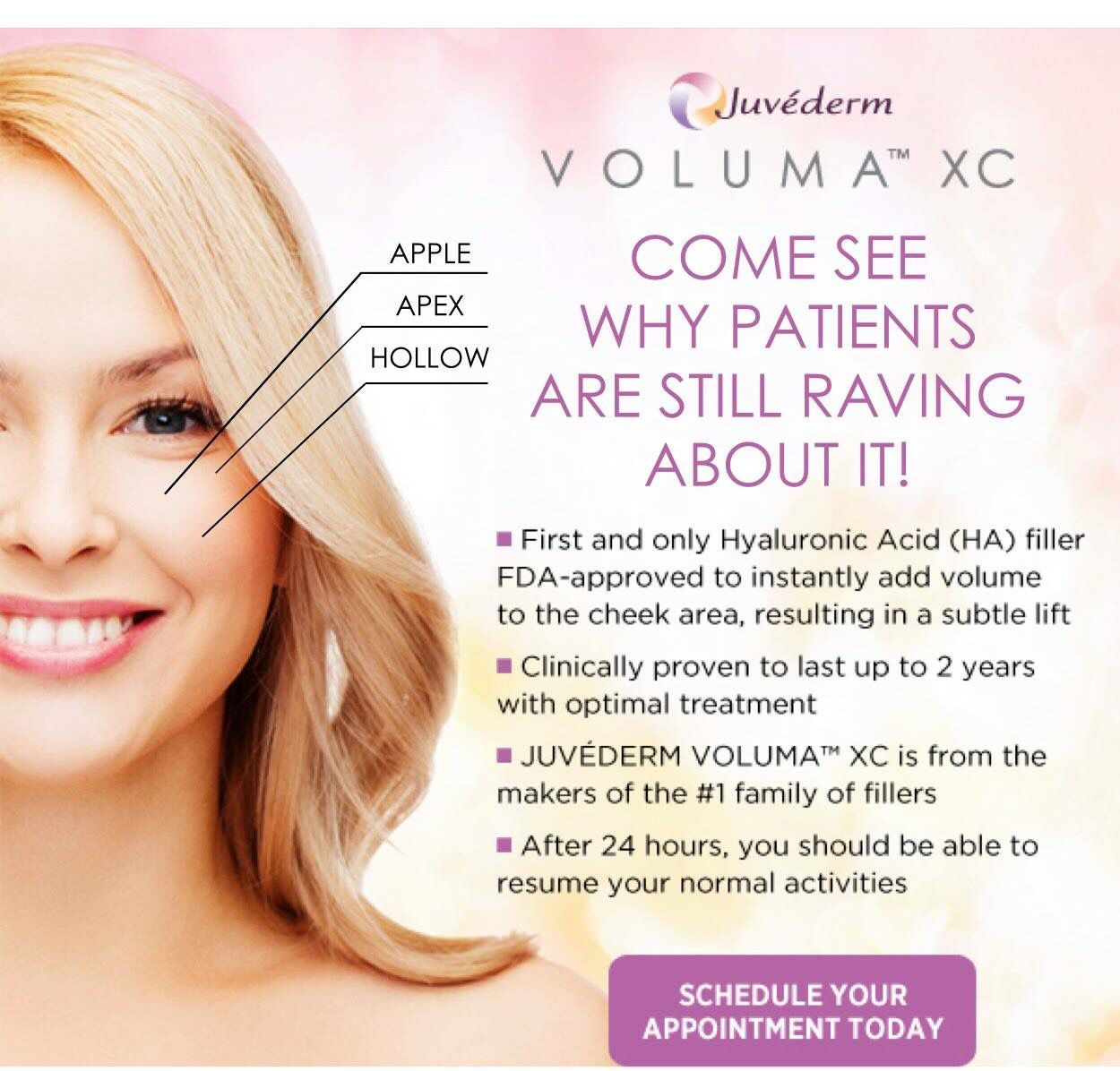 Now Offering Juvederm Voluma XC Subtle lift  Beauty