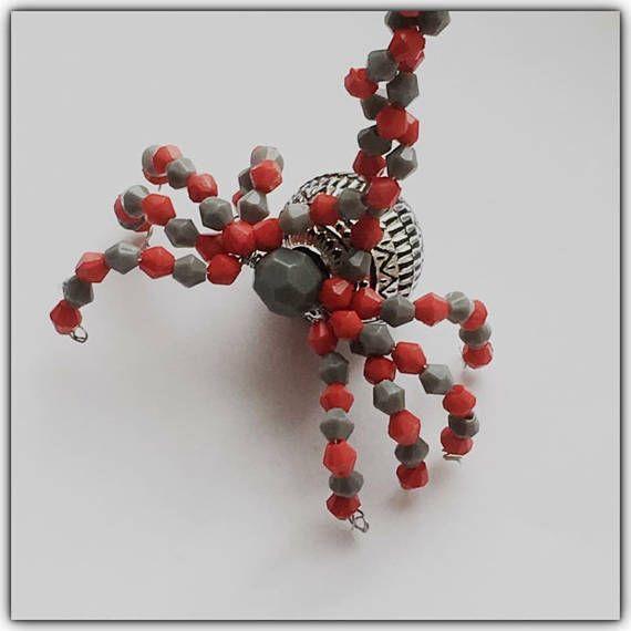 Halloween spider, beaded ornaments, beaded spider, spider, spider - spiders for halloween decorations